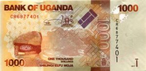 Billet 1000 Shillings Ouganda UGX recto