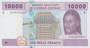 Billet 10000 Francs CFA Afrique Centrale XAF recto
