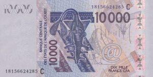 Billet 10000 Francs CFA Afrique Ouest XOF 2018 recto