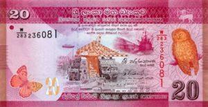 Billet 20 Roupies Srilankaise Sri Lanka LKR 2010 recto