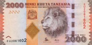 Billet 2000 Shillings Tanzanie TZS recto