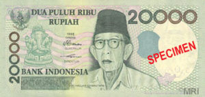 Billet 20000 Roupie Indonesie IDR 1998