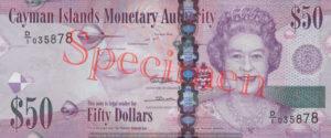 Billet 50 Dollar Iles Caïmans KYD 2010 recto
