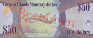 Billet 50 Dollar Iles Caïmans KYD 2010 verso