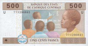 Billet 500 Francs CFA Afrique Centrale XAF recto