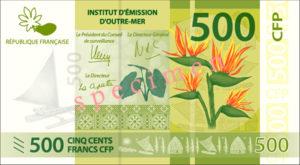 Billet 500 Francs Pacifiques Polynésie Française XPF 2014 recto