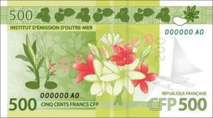 Billet 500 Francs Pacifiques Polynésie Française XPF 2014 verso