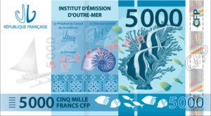 Billet 5000 Francs Pacifiques Polynésie Française XPF 2014 recto