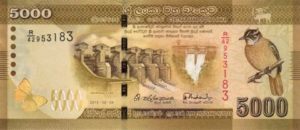 Billet 5000 Roupies Srilankaise Sri Lanka LKR 2010 recto