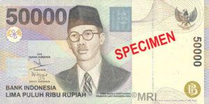 Billet 50000 Roupie Indonesie IDR 1999