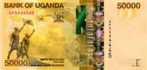 Billet 50000 Shillings Ouganda UGX recto