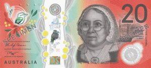 Billet 20 Dollars Australiens AUD Australie 2019 recto