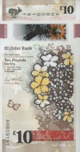 billet 10 livres irlande du nord uslter bank 2019 recto