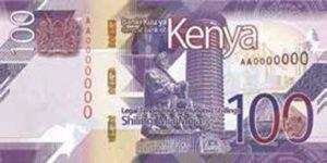 Billet 100 Shillings Kenya KES 2019 recto