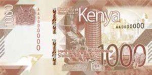 Billet 1000 Shillings Kenya KES 2019 recto