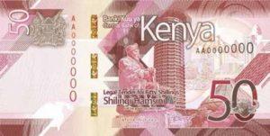 Billet 50 Shillings Kenya KES 2019 recto