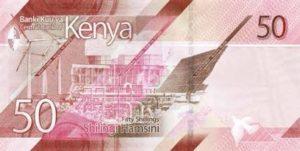 Billet 50 Shillings Kenya KES 2019 verso