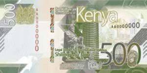 Billet 500 Shillings Kenya KES 2019 recto