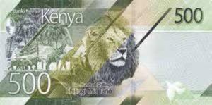 Billet 500 Shillings Kenya KES 2019 verso