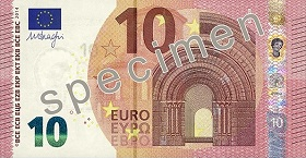 Billet 10 Euros Serie Europe 2019 recto