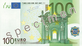 Billet 100 Euros recto