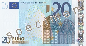 Billet 20 Euros recto