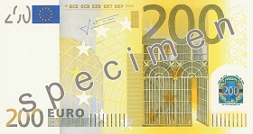Billet 200 Euros recto