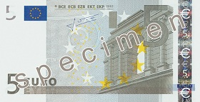 Billet 5 Euros recto