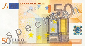 Billet 50 Euros recto
