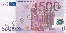 Billet 500 Euros recto