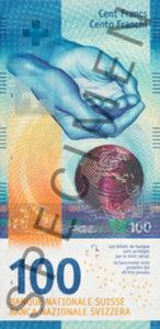 Billet 100 Francs Suisses CHF 2019 recto