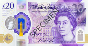 Billet 20 Livres Sterling Pounds GBP 2020 r