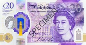 Billet 20 Livres Sterling Pounds GBP 2020 r