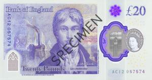 Billet 20 Livres Sterling Pounds GBP 2020 v