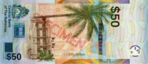 Billet 50 Dollar Bahamas BSD 2019 verso
