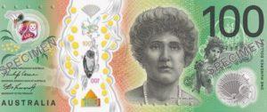 Billet 100 Dollars Australie AUD 2020 recto