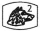 poinçon platine tête de chien 2