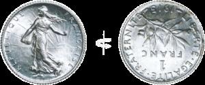 axe d'une pièce en frappe monnaie