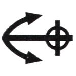 différent monétaire Auguste-Jean Barre ancre barrée