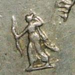 différent monétaire Augustin Dupre Artemis tirant à l'arc