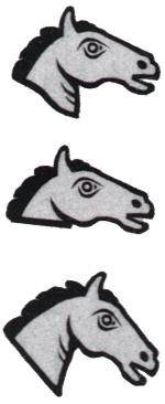 différent monétaire Nicolas-Pierre Tiolier Tête de cheval