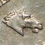 différent monétaire Pierre-Joseph Tiolier Tête de cheval