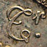 différent monétaire Pierre-Joseph Tiolier Tr. cursif