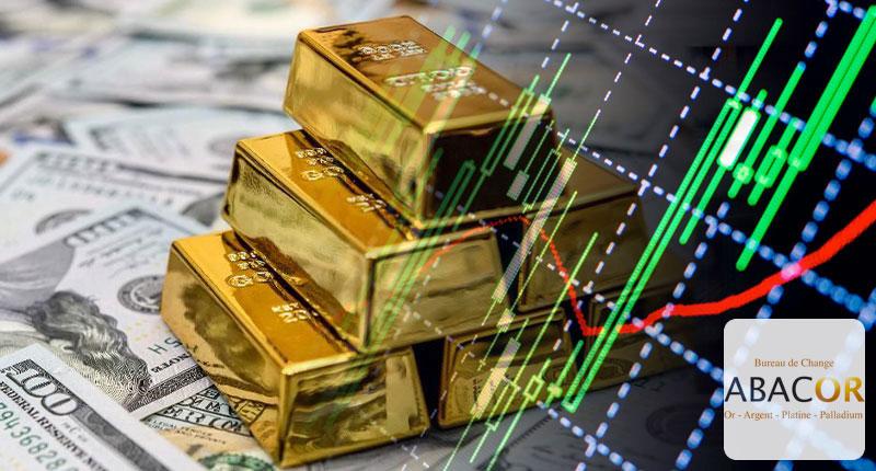 L'or tombe à un plus de deux mois avec un dollar plus fort
