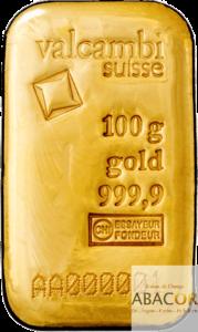 lingot or valcambi 100 grammes