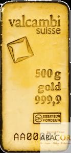 lingot or valcambi 500 grammes